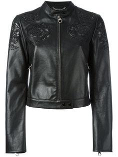 укороченная куртка с вышивкой в стиле барокко Versace