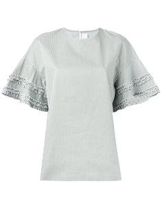 футболка в полоску с рюшами Victoria Beckham