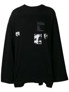 футболка с длинными рукавами и принтом  Julius
