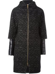 стеганое пальто с многослойными рукавами Herno