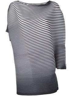 асимметричная блузка в полоску  Issey Miyake