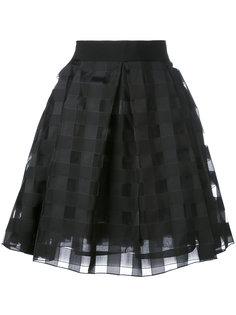 жаккардовая юбка в клетку   Blugirl