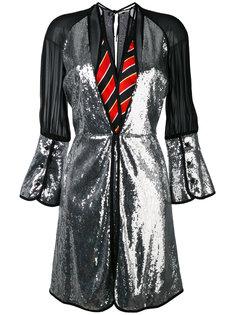 платье со вставкой металлик  Marco De Vincenzo