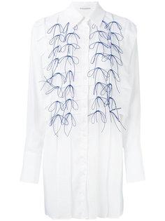 платье-рубашка с вышивкой  Marco De Vincenzo