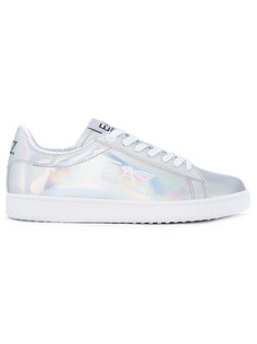 metallic lace-up trainers Ea7 Emporio Armani