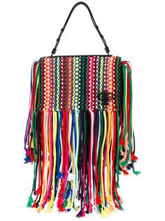 плетеная сумка-тоут Emilio Pucci