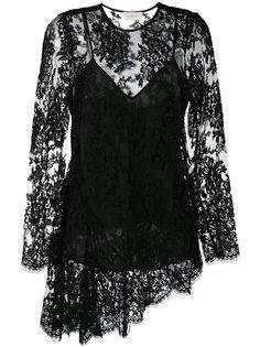 асимметричная кружевная блузка Zimmermann
