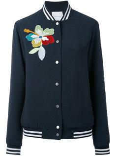 куртка-бомбер с нашивками и пайетками Mira Mikati