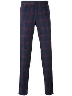 клетчатые костюмные брюки Incotex