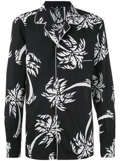 рубашка с пальмовым принтом Dolce & Gabbana