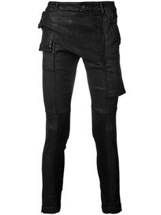 асимметричные брюки скинни Rick Owens DRKSHDW