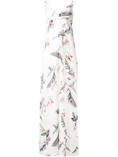 длинное платье с цветочным принтом Cacharel