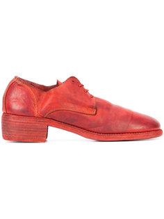 туфли на шнуровке с толстым каблуком Guidi