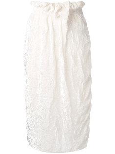 юбка миди прямого кроя Victoria Beckham