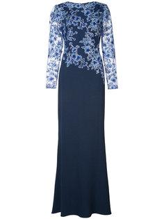 платье с кружевом с цветочным узором Tadashi Shoji