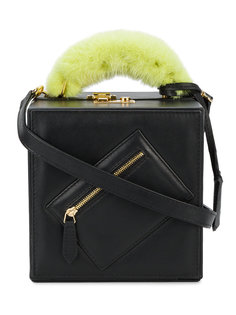 сумка через плечо с оторочкой из норки Natasha Zinko