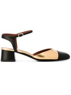 туфли на каблуках-столбиках Michel Vivien