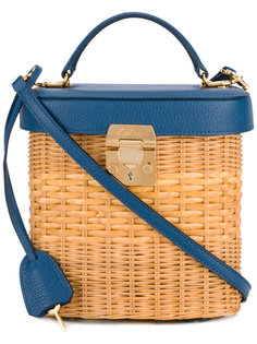Benchley Rattan tote Mark Cross