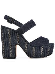джинсовые босоножки на платформе Le Silla