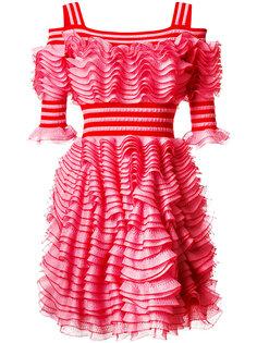 платье с рюшами Alexander McQueen