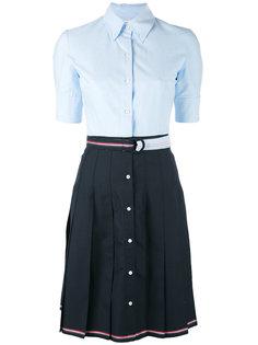плиссированное платье-рубашка Thom Browne