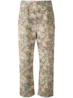 укороченные брюки с абстрактным принтом Isa Arfen