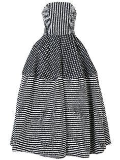 полосатое пышное платье Christian Siriano