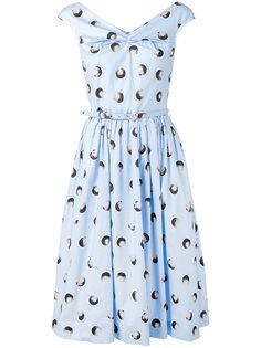платье без рукавов с узором в горох Blumarine