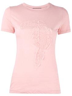 футболка с вышивкой птицы Ermanno Scervino