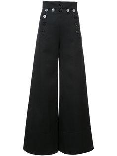 расклешенные брюки с завышенной талией Chloé