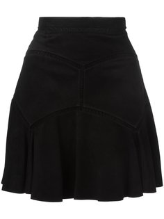 замшевая юбка с простроченными панелями Chloé
