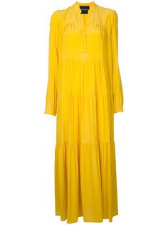 длинное платье с присборенной отделкой Erika Cavallini