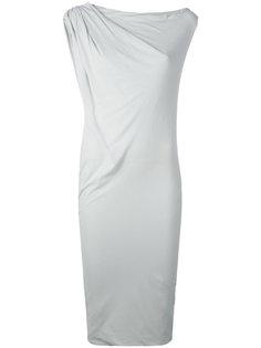 драпированное платье без рукавов James Perse