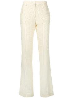 брюки с вышивкой Kiton