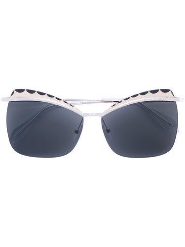 """солнцезащитные очки с оправой """"кошачий глаз"""" Alexander McQueen"""