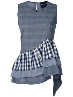 многослойная блузка с рюшами Erika Cavallini
