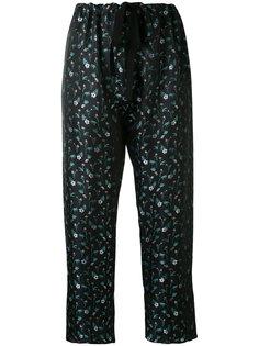 брюки с цветочной вышивкой Hache