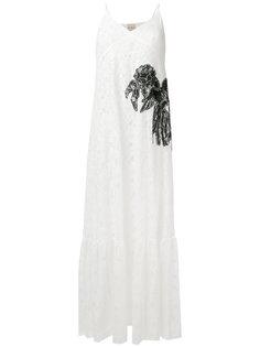 платье с кружевной отделкой Nude