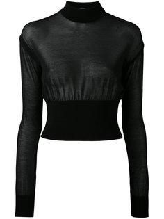укороченный свитер Balmain
