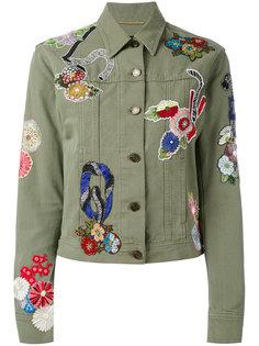 джинсовая куртка с вышивкой Saint Laurent