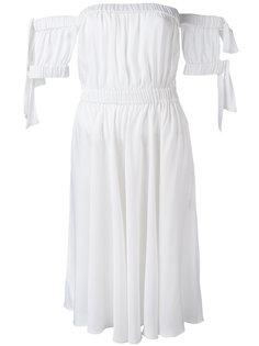 расклешенное платье с открытыми плечами Milly