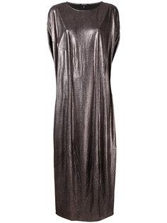 платье шифт с отделкой металлик Unconditional