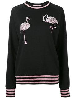 толстовка с вышивкой фламинго Giamba