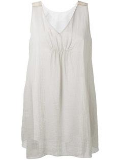 полупрозрачная блузка с неравномерным подолом Fabiana Filippi
