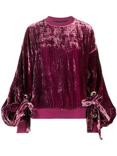 crushed velvet sweatshirt  Y / Project