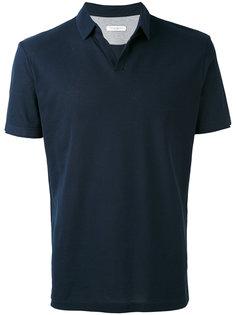 футболка-поло с открытой горловиной Paolo Pecora