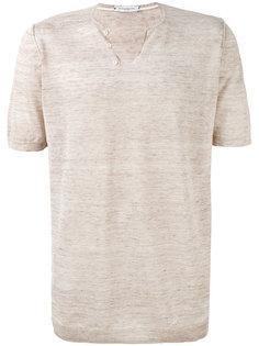 футболка с пуговицами на горловине Paolo Pecora