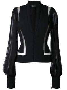 приталенный пиджак с прозрачными панелями Balmain