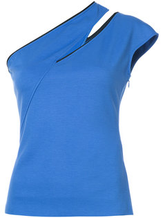 one-shoulder slash T-shirt Mugler