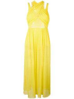 вечернее платье с перекрещенными деталями Emilio Pucci